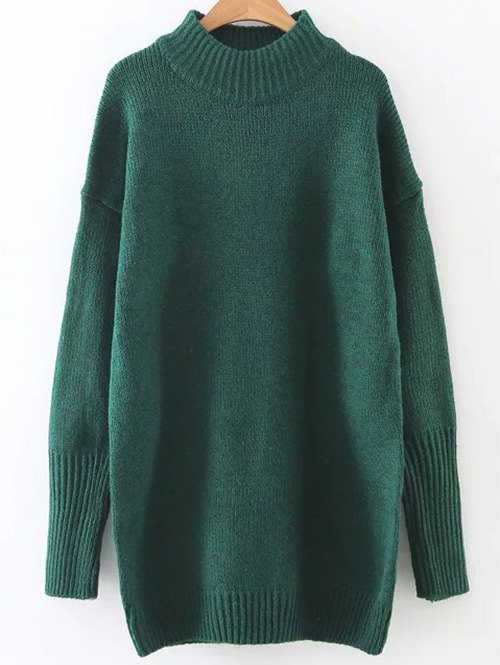 High Neck Long Sweater