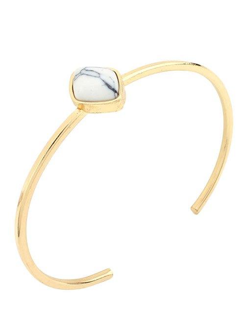 Bohemian Artificial Turquoise Geometric Cuff Bracelet