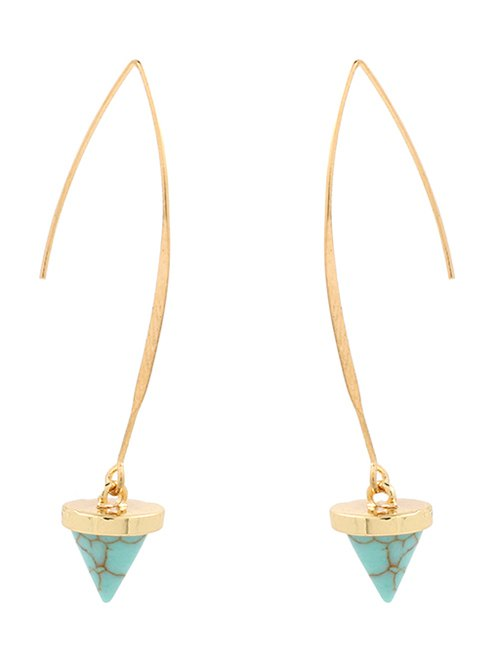 Artificial Turquoise Cone Earrings