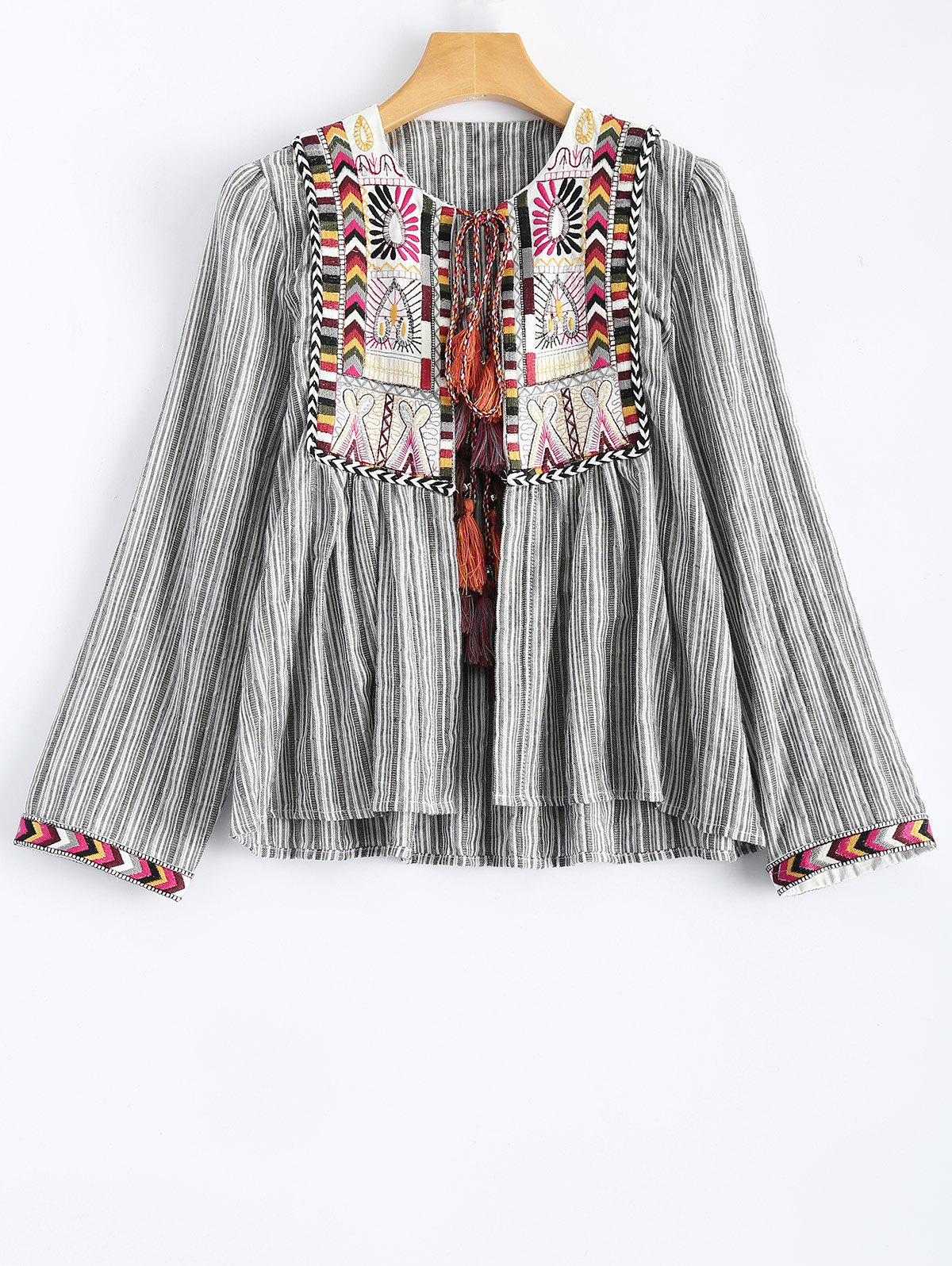 Striped Embroidered Jacket