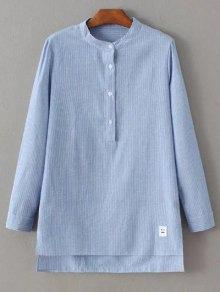 Slit Stripe High-Low Shirt