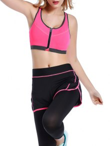 Push Up Front Zipper Sporty Bra