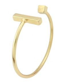 Vintage Alloy Adorn Geometric Cuff Bracelet