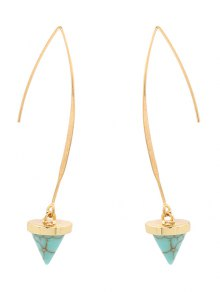 Artificial Turquoise Cone Embellished Earrings