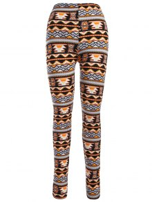 Leggings Moulants Imprimés Motif De Noël à Style Nordique - Orange