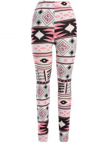 Nordic Printed Leggings - Pink