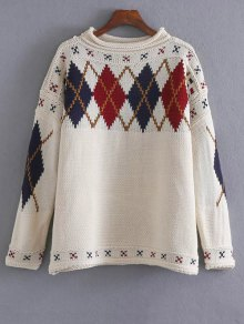 Argyle Jacquard Sweater