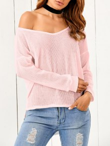Loose One-Shoulder Sweater