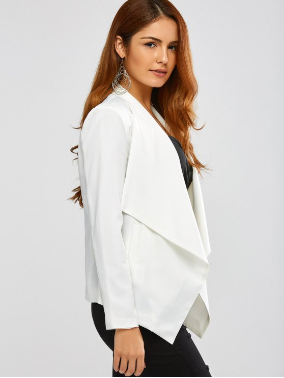 Turn Down Collar Business Blazer - OFF-WHITE M Mobile