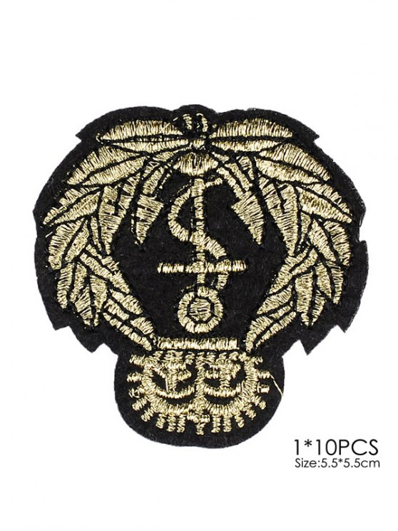 10 PCS Leaves Design Embroidered Patches -   Mobile