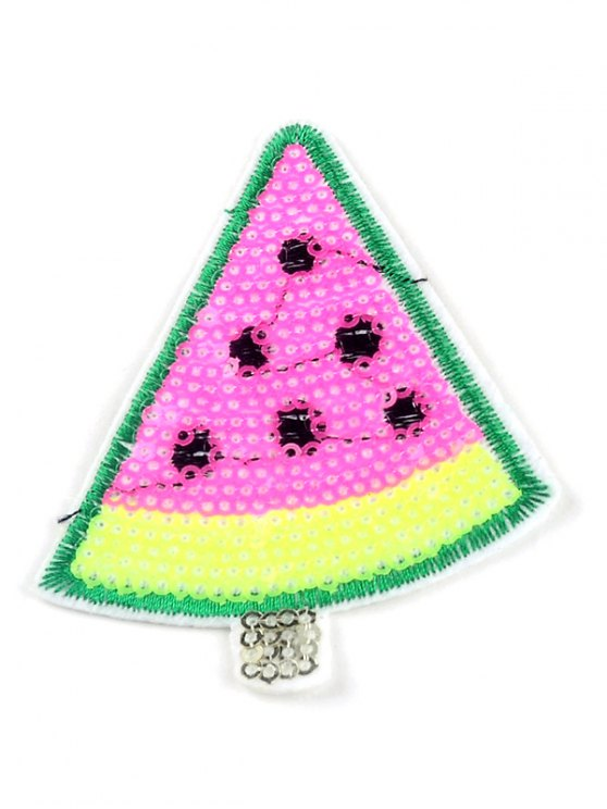 outfits 10 PCS Watermelon Sequins Embroidered Patches - PINK