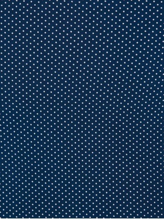 Polka Dot Bodycon Plus Size Dress - PURPLISH BLUE 4XL Mobile