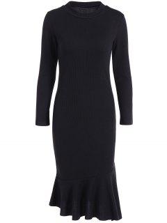 Mermaid Sweater Dress - Black 3xl