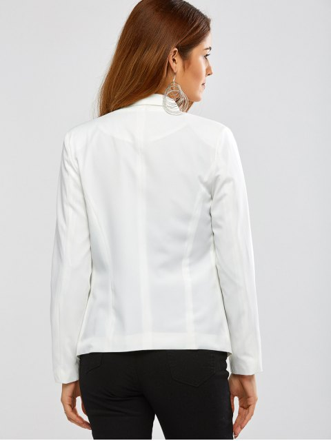 fashion Turn Down Collar Business Blazer - OFF-WHITE M Mobile