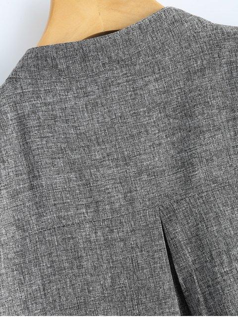 ladies Plus Size Trench Coat - GRAY XL Mobile