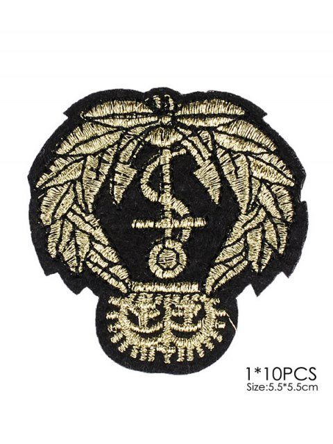 online 10 PCS Leaves Design Embroidered Patches -   Mobile
