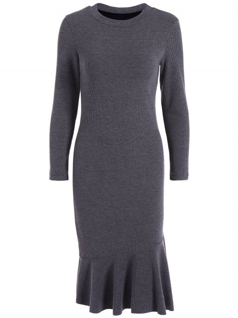 shops Mermaid Sweater Dress - DEEP GRAY 4XL Mobile