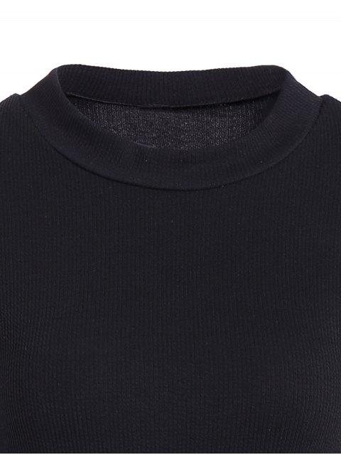 buy Mermaid Sweater Dress - BLACK L Mobile