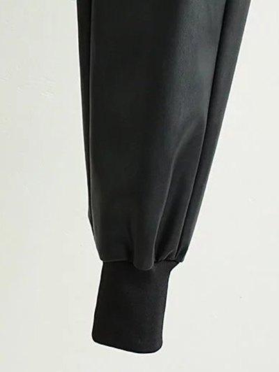 Drawstring Faux Leather Jogger Pants - BLACK M Mobile