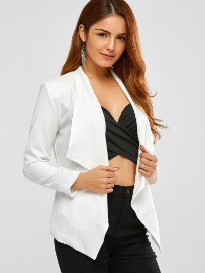 Turn Down Collar Business Blazer - OFF-WHITE M Mobile