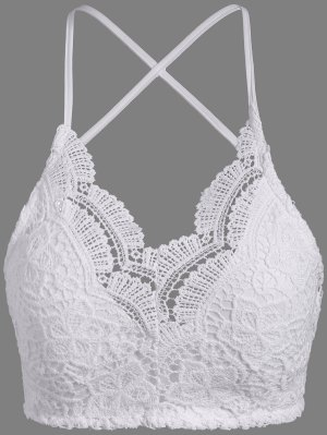 Lace Padded Bra Top - White