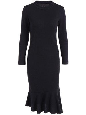 Mermaid Sweater Dress - Black