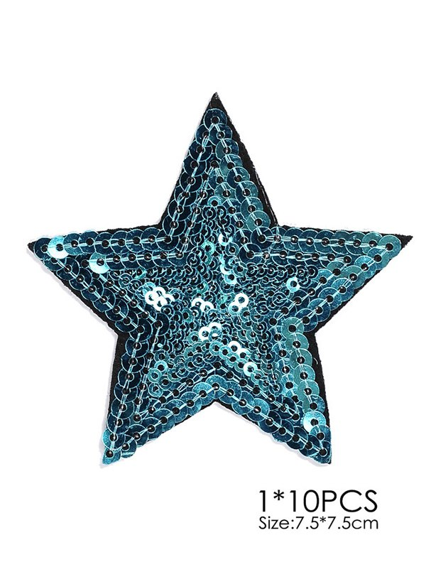10 PCS Star Embroidered Patches