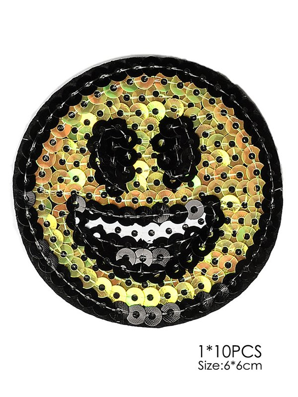 10 PCS Smile Embroidered Patches