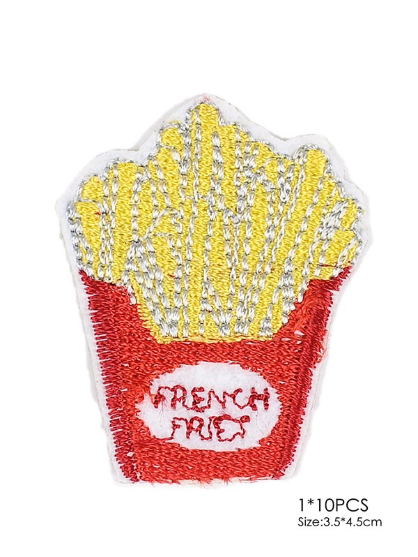 10 PCS Chips Embroidered Patches