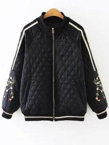 Embroidered Argyle Jacket