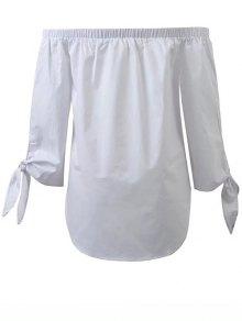 Chemisier Bretelles Sans Les épaules - Blanc
