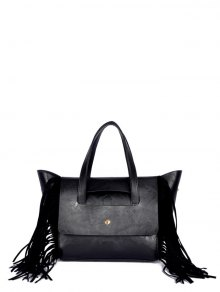 Fringe Winged PU Leather Handbag