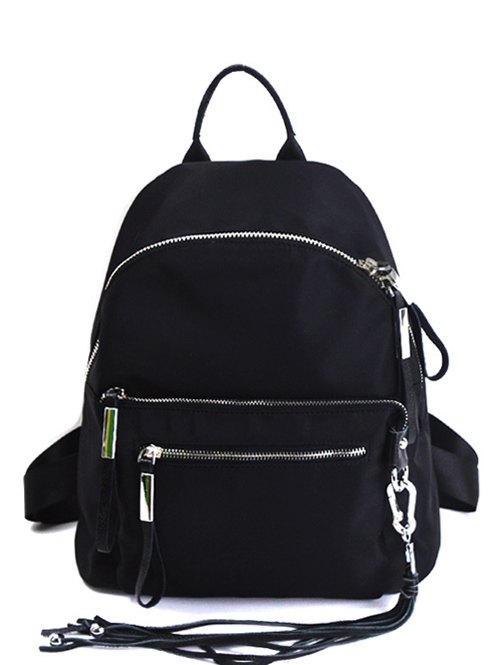 Splicing Tassels Backpack