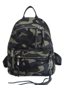 Camouflage Pattern Tassels Splicing Backpack