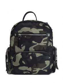Sac à Dos Poches Camouflage Motif Zip  - Camouflage