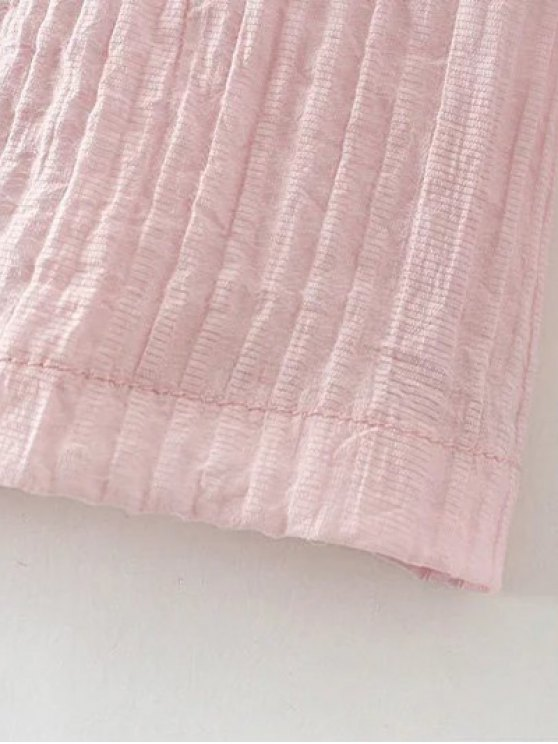 Lace Spliced Off The Shoulder Blouse - PINK M Mobile