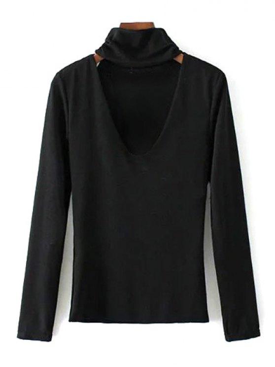 Turtle Neck Knitwear - BLACK S Mobile