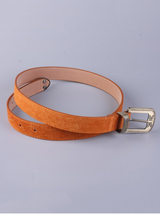Trousers Wear Buckle Retro Belt - ANTIQUE BROWN  Mobile