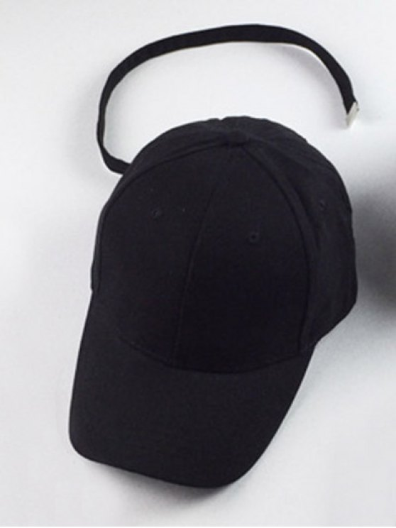 Outdoor Sunshade Snapback Baseball Hat - BLACK  Mobile