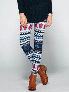 Christmas Print Bodycon Leggings