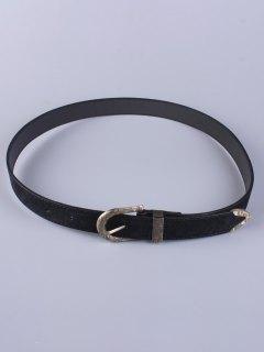 Trousers Wear Embellished Buckle Belt - Black