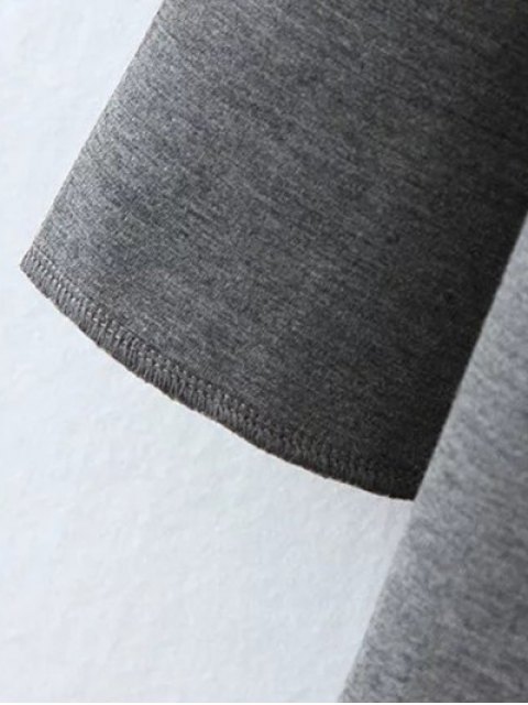 latest Color Block Rabbit Design Hoodie - GRAY XL Mobile