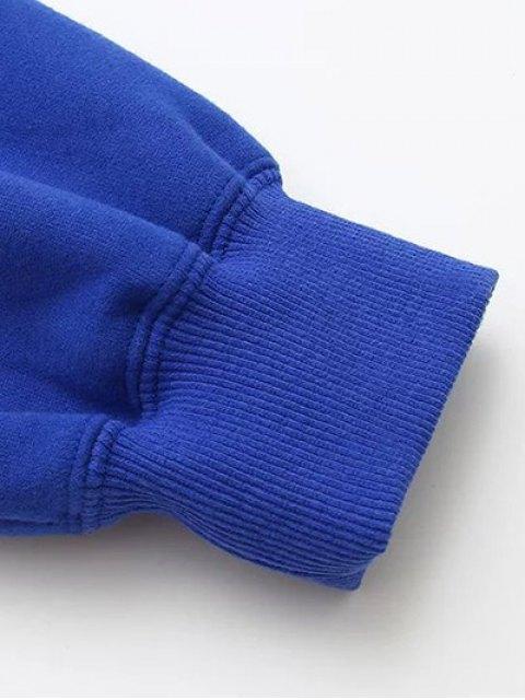 shop Lettering Fleece Sweatshirt - GRAY ONE SIZE Mobile