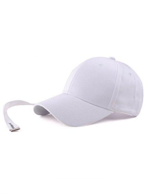 fashion Casual Long Strap Adjustable Baseball Cap - WHITE  Mobile