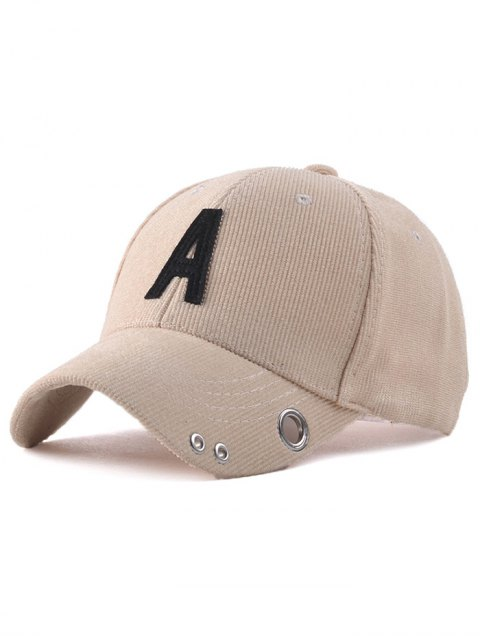 latest Casual Corduroy Stripe Lettres Adjustable Baseball Cap - YELLOWISH PINK  Mobile
