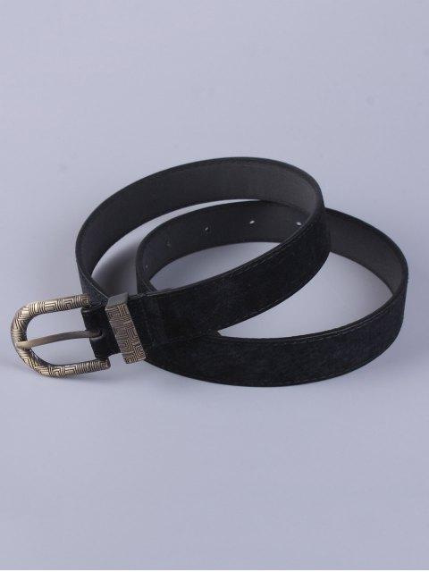womens Trousers Wear Embellished Buckle Belt - BLACK  Mobile
