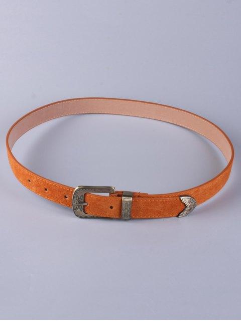 hot Trousers Wear Buckle Retro Belt - ANTIQUE BROWN  Mobile
