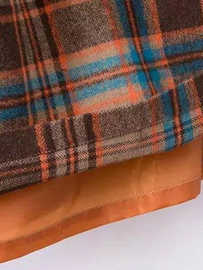 Plaid Wool Blend Shift Dress - COLORMIX M Mobile