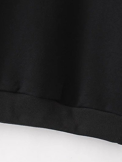 Swallow Embroidered Sweatshirt - BLACK L Mobile