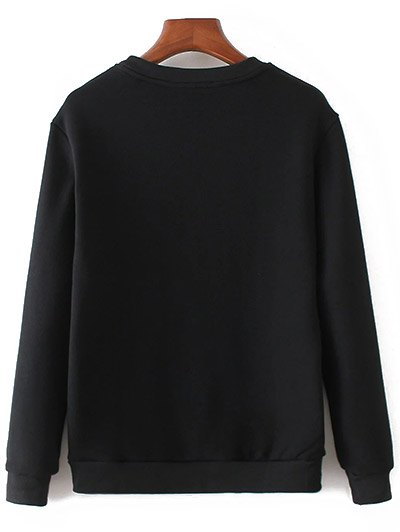 Swallow Embroidered Sweatshirt - BLACK M Mobile